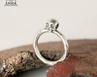 SKULL RING - 100% Sterling Silver Ring - Rocker Ring - Handmade Jewelry - Skull Ring