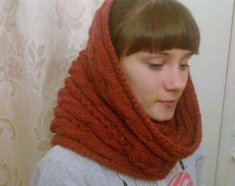 Infinity scarf/Winter knitted hat/Scarf/Neck warmer