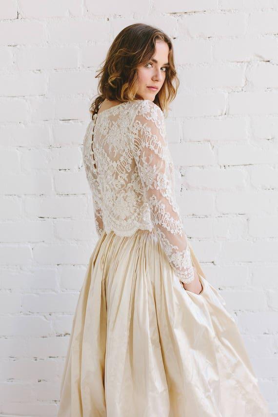 Wedding Lace Top Bridal Separates Bridal Lace Top Wedding