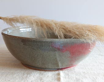 Vintage Large Studio Handmade Ceramic Bowl, Pottery, Stoneware