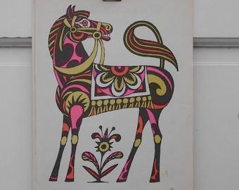 Mod Pop Art Horse Print