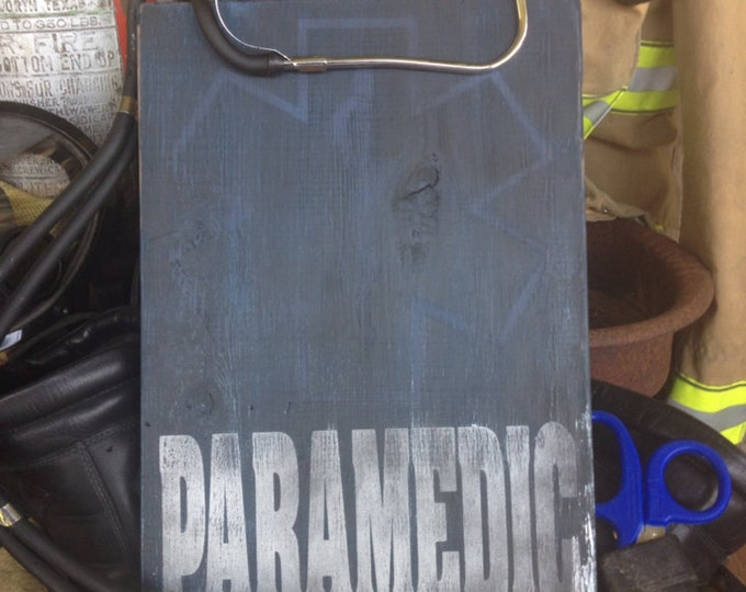 Paramedic Star of Life Wood Sign
