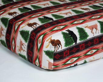 Woodland Animal Crib Sheet - Flannel Crib Sheet