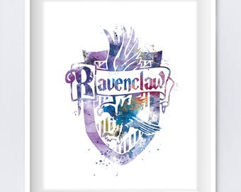 Ravenclaw Crest Instant Digital Download Harry Potter Print Snape Ravenclaw Watercolor Harry Potter Gift Geek Office Home Decor Wall Art