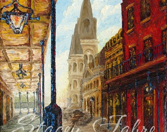 Chartres St. - matted to fit 8x10 - PRINT