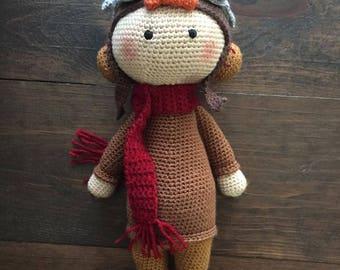 Crochet Amelia Earhart Doll