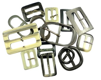 Vintage belt buckles grey mix