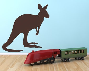 Kangaroo Removable Wall Decal | kids room art sarfari nursery kids wall decal animal wall decals austraila wall art bedroom wall art