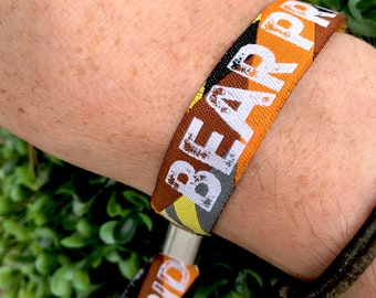 Bear Pride Wristbands - Gay Pride Wristbands - Bear Pride Accessories / Bear Pride bracelet / festival wristbands