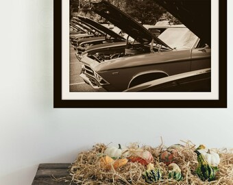 1960s Era Vintage Chevelle Car Hoods | Sepia | *Digital Download Only*