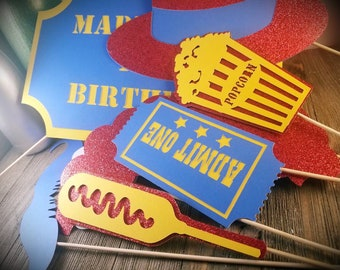 circus themed party, circus photo booth props, circus party, circus birthday, carnival theme party, first birthday party, birthday party