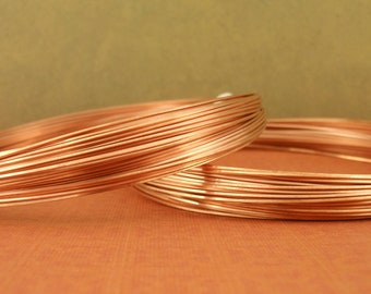 Half Hard SQUARE Copper Wire Metal 100% Guarantee - Made in the USA - You Pick Gauge 16, 18, 19, 20, 21, 22, 24