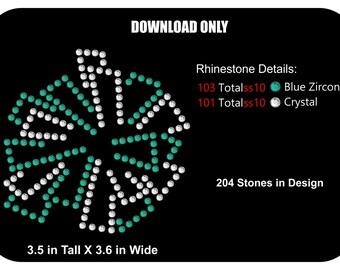 Cheer Rhinestone Transfer Template - Cheer Pom Pom -  Pattern Stencil DOWNLOAD - Pom Pom Cheer Add-On - DIY - Sticky Flock SVG