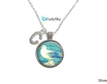 Sea bird necklace Gull bird necklace Bird sea necklace Sea bird pendant Sea bird jewelry Gull bird jewelry pendant Bird Gull necklace