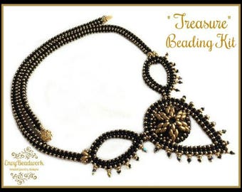 """Only Beads Kit : """"Treasure"""" Necklace in English D.I.Y."""