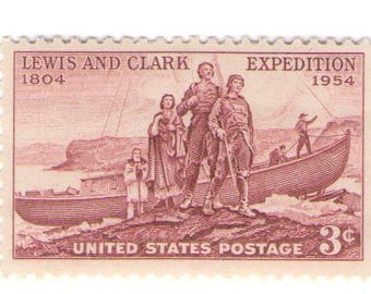 10 Unused 1954 Lewis and Clark Expedition - Vintage Postage Stamps Number 1063
