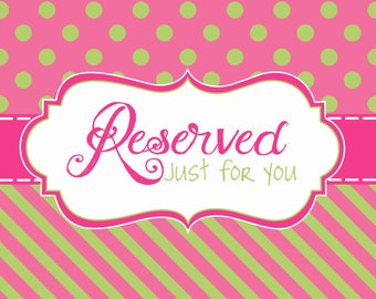 Custom Reserved Listing for katie smith