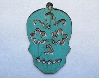 Sugar Skull Pendant #EWKS4 Necklace SugarSkull Day of the Dead Necklace Ornament