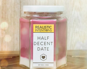 Half Decent Date - Intention Prayer Candle