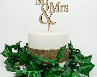Wooden Cake Topper - Mr and Mrs. FREE Shipping AU