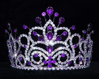 Style # 16107 - Maus Spray Crown - Amethyst - 4""
