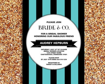 Bride & Co. Bridal Shower or Party Invitation and Matching Party Printables | DIY Printable Digital File
