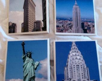Iconic New York City Awesome Coaster Set