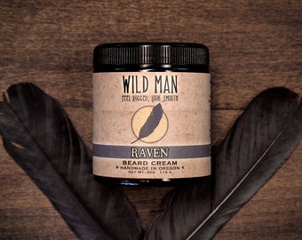 Beard Balm Cream Wild Man RAVEN Beard Grooming 113g // 4oz For Him