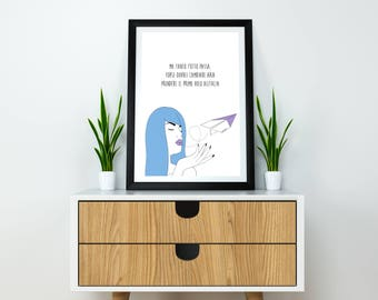 But everything must go-press 21x30 + frame (black, pink, blue, red, white)