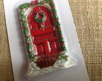 Fairy Door Red Christmas Fairy Door by Celebrate it Tiny Treasures