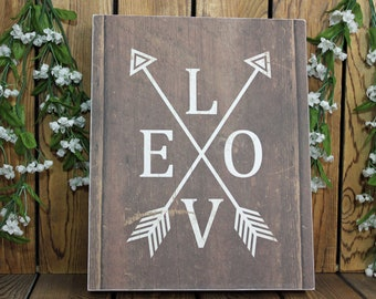 LOVE,Arrows,Framed Wall Art,Inspirational Quote,Framed Quotes,Birthday Gift Her,Farmhouse Decor,Wood Signs,Rustic Wood Sign,Wood Wall Art