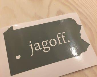 Pittsburgh, Jagoff Vinyl Decal