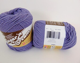 Hot Purple - Lily Sugar'n Cream Solids Cotton Yarn