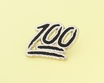 One Hundred Enamel Pin