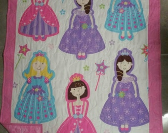 Princess quilt, Pink quilt, Girls quilt,