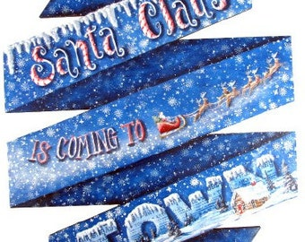 Santa Claus is Coming to Town Plaque E-Pattern