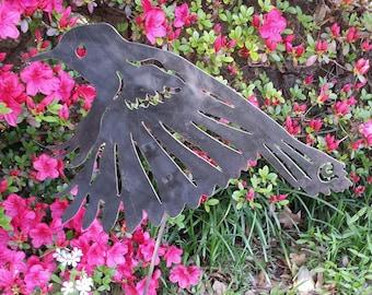Hummingbird Garden Stake/ Garden Art Wall Decor - Metal  Yard Art