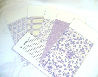 Planner Envelopes Budgeting Envelopes, Set of 5, 3.25 x 7 Inches, Hand Stitched, Durable and Reusable