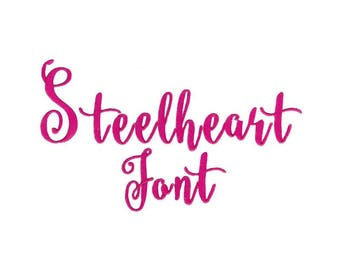 Steelheart Machine Embroidery Font 1, 1.5, 2, 2.5, 3 Inch Sizes Included BX Files Included