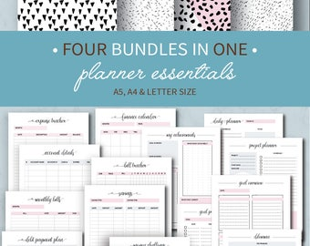 ULTIMATE Planner Insert Bundle, Printable Planner Pages, Life Planner, Household Binder, Mom Planner Pack, A5, Letter size, A4