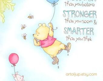 pooh nursery decor etsy rh etsy com Classic Winnie the Pooh Clip Art Classic Winnie the Pooh Clip Art
