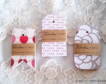 Gift Tags, Valentine Tags, Valentine party favor tags, Valentine Gift Tags, Baby Shower Tags, Princess party Tags, Gift tags, Wedding Tags