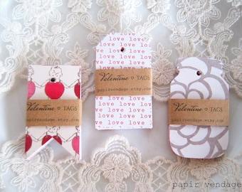 Étiquettes, étiquettes à la Saint-Valentin, la Saint-Valentin fête Etiquettes, étiquettes de cadeaux de la Saint-Valentin, Baby Shower Tags, étiquettes de princesse de fête, étiquettes, mariage