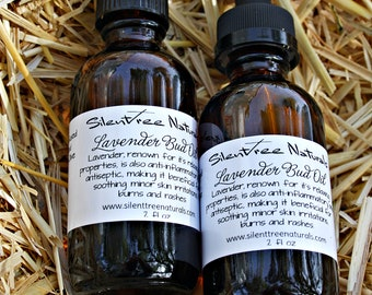 Lavender Bud Oil-2 fl oz -  Natural Health, Lavender-Infused Oil, Infused-Oil, Antiseptic, Anti-Inflammatory, Burn Relief, Natural Products