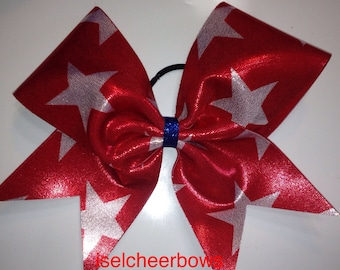 Star spangle bow in red with white stars