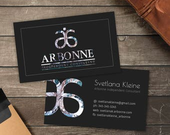 Vistaprint etsy arbonne business cards free personalised arbonne consultant ready for print 35x2 for vistaprint or home printing reheart Image collections
