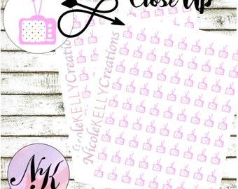50 TV Stickers, Stickers, Television sticker, use with Erin Condren Planner(TM), Happy Planner, planner, traveler notebook