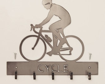 Cycling Medal Hanger available in male and female