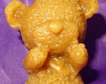 pure beeswax - Teddy bear candle