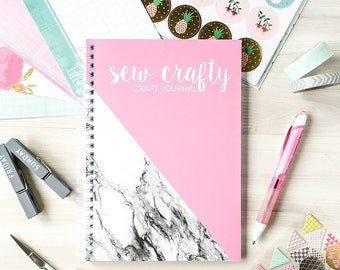 Craft Journal - Craft Record Notebook for Crafters - Sewing Journal - Craft Record Book - Crafty Person - Pink Journal - Craft Planner